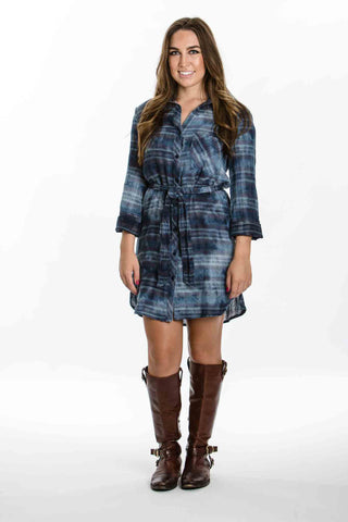 Plaid Pocket Shirt Dress by Bella Dahl - Two Elle's Boutique  - 1