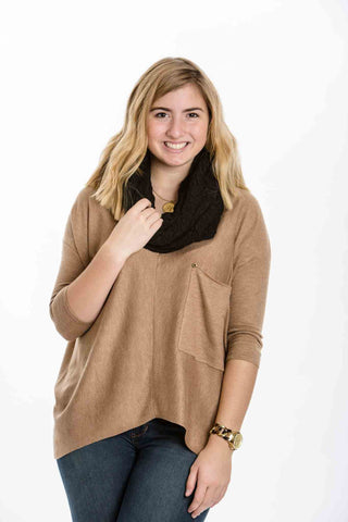 Bella Scarf, Black - Two Elle's Boutique  - 1
