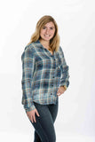 Plaid Pocket Button Down By Bella Dahl - Two Elle's Boutique  - 1