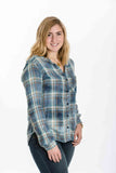 Plaid Pocket Button Down By Bella Dahl - Two Elle's Boutique  - 2