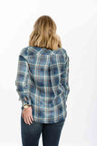 Plaid Pocket Button Down By Bella Dahl - Two Elle's Boutique  - 3