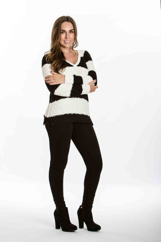 Teddybear Sweater (Black & Ivory Stripe) by Sanctuary - Two Elle's Boutique  - 1