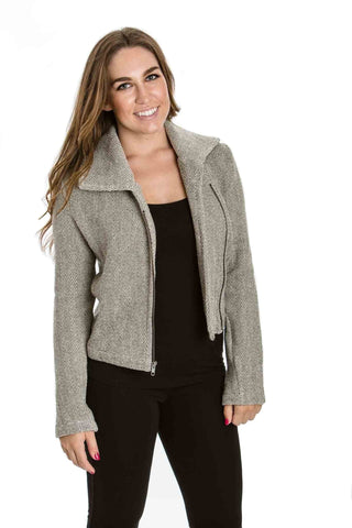Riley Jacket in Herringbone by Amour Vert - Two Elle's Boutique  - 1