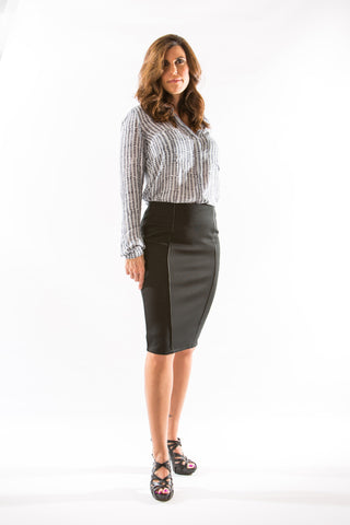 Yoko Skirt in Tap Shoe (Black) by Black Swan - Two Elle's Boutique