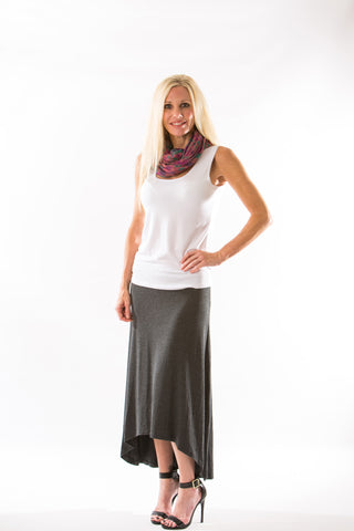 Naomi Skirt, Anthracite by Amour Vert - Two Elle's Boutique  - 1
