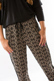Taupe Printed Pants by Olive & Oak - Two Elle's Boutique  - 3