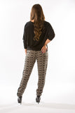 Taupe Printed Pants by Olive & Oak - Two Elle's Boutique  - 4