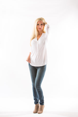 Mya Iconic Skinny Jean, in Cloud by Articles of Society - Two Elle's Boutique