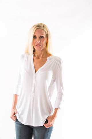 Elena Blouse (White) by Amour Vert - Two Elle's Boutique  - 1