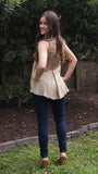 Mocha Lace Tank - Two Elle's Boutique  - 2