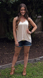 Light Peach Tank - Two Elle's Boutique  - 1