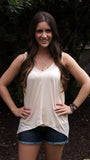 Light Peach Tank - Two Elle's Boutique  - 2