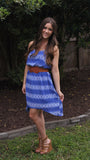 Cobalt Arrow Print Dress - Two Elle's Boutique