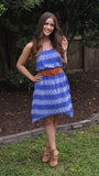 Cobalt Arrow Print Dress - Two Elle's Boutique  - 1