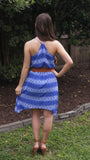 Cobalt Arrow Print Dress - Two Elle's Boutique  - 3