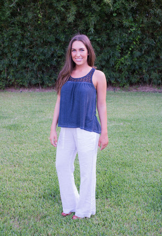 Bella Dahl Linen Pants - Two Elle's Boutique  - 1