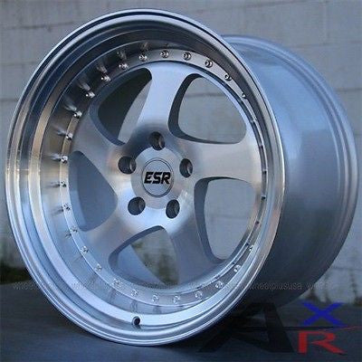 "SET(4) 19"" ESR SR02 19X8.5/19X9.5 WHEELS BMW E36 E46 E39 E90 E91 335I 328I 330I"