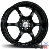 15X6.5 AVID.1 MATTE BLACK WHEELS AV-02 4X100/114.?3 +38 RIM FITS HONDA CRX CIVIC