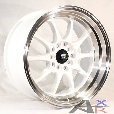 15x8 MST MT11 4x100 0 White Wheel fit Honda Toyota Mazda VW Kia Integra C set(4)