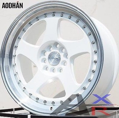 DIRECTIONAL 17X9 +35 AODHAN AH01 5X100/114.3 White with machine lip WHEEL