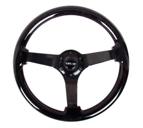 NRG 350mm Classic Black Wood Grain Steering Wheel - ST-036BK-BK