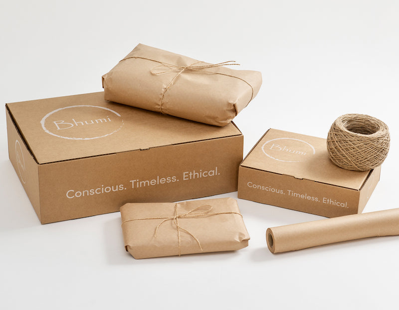 Bhumi Organic Cotton - Plastic Free Packaging