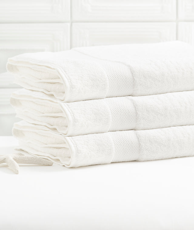 Bhumi Organic Cotton - Bath Sheet - 3 Pack - White