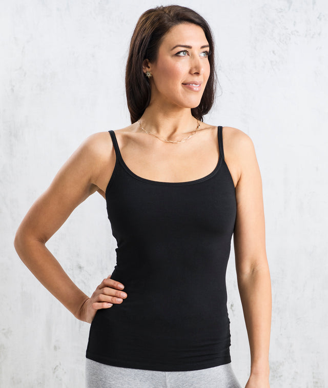 Bhumi Organic Cotton - Shelf Bra Camisole - Black