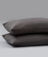 Bhumi Organic Cotton  - Flannel Pillow Cases (pair) - Charcoal