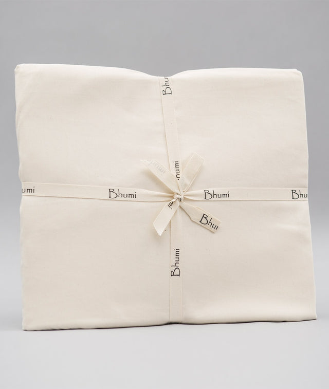 Bhumi Organic Cotton - Fitted - Sateen Sheet - Natural