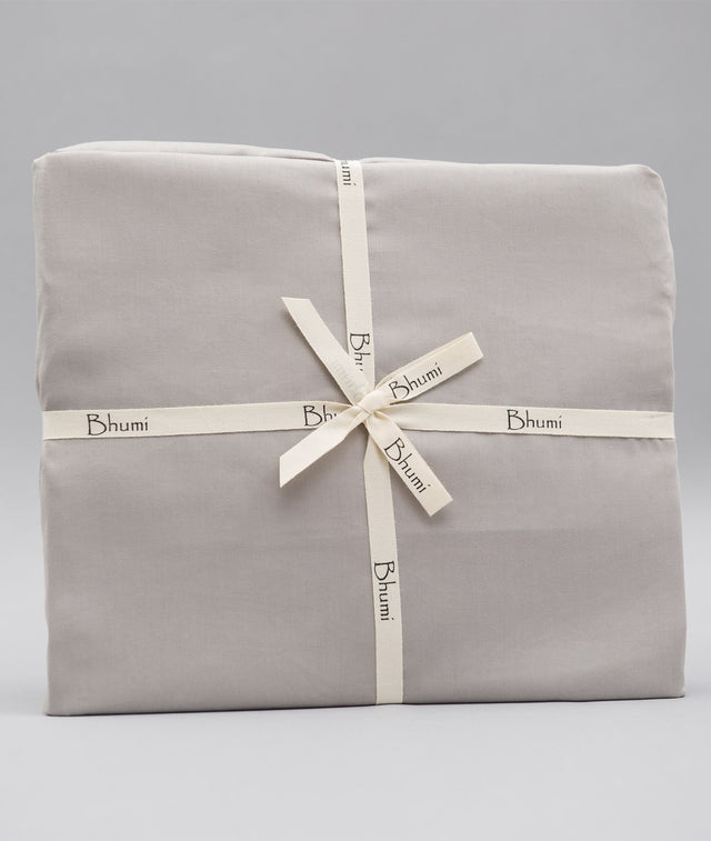Bhumi Organic Cotton - Fitted - Sateen Sheet - Pewter