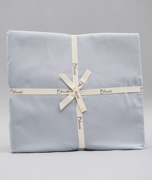 Bhumi Organic Cotton - Fitted - Sateen Sheet - Sky Blue