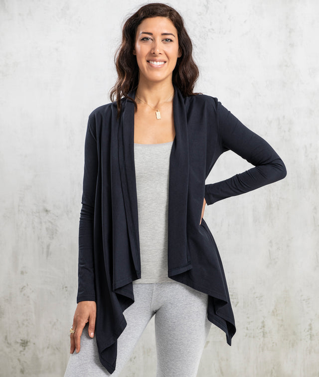Bhumi Organic Cotton - Flowing Cardigan - Navy