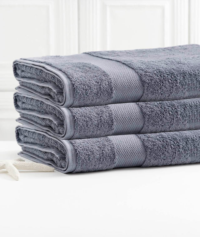 Organic Cotton - Bath Towel - 3 Pack - Granite Blue