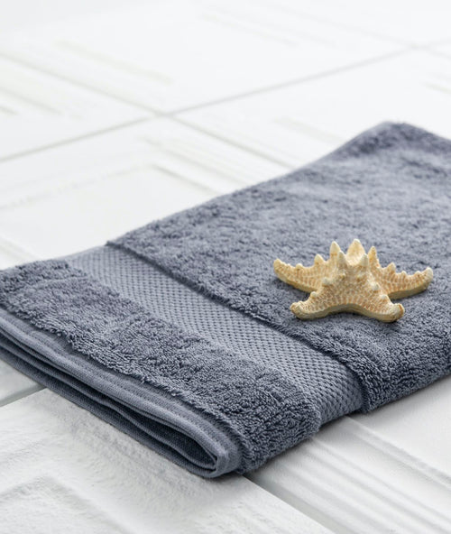 Bhumi Organic Cotton - Hand Towel - Granite Blue