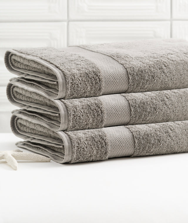Bhumi Organic Cotton - Bath Sheet - 3 Pack - Grey