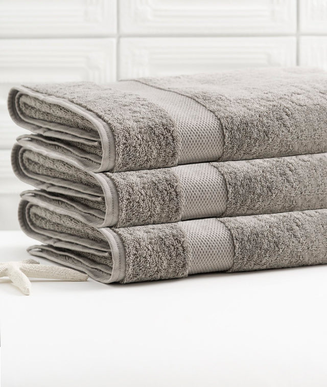 Bhumi Organic Cotton - Bath Towel - 3 Pack - Grey