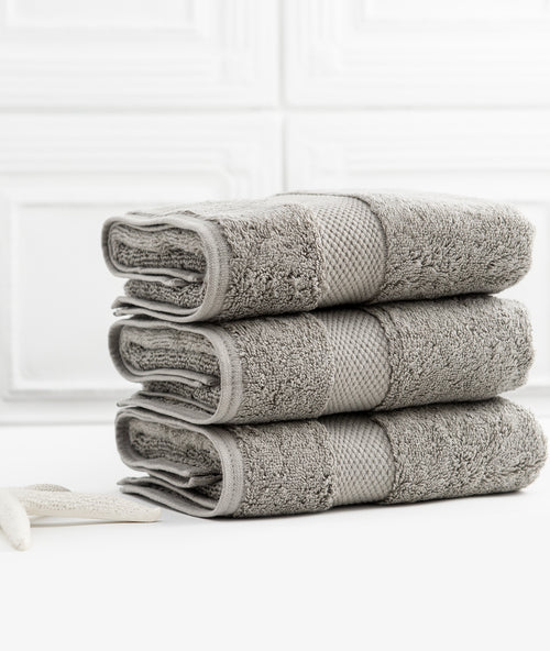 Bhumi Organic Cotton - Hand Towel - 3 Pack - Grey