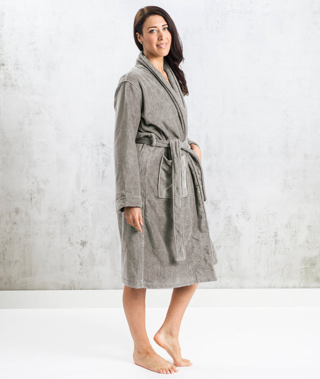 Bhumi Organic Cotton - Spa Robe - Grey