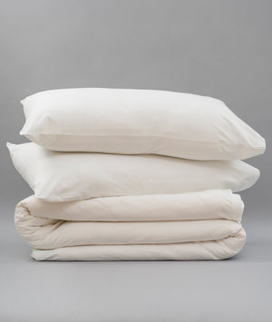Bhumi Organic Cotton - Jersey Quilt Cover - White