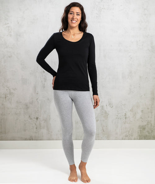 Bhumi Organic Cotton - Long Sleeve Tee - Black