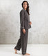Bhumi Organic Cotton - Flannel Long PJ Set - Charcoal