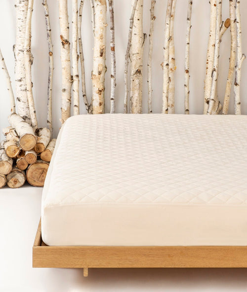 Bhumi Organic Cotton - Mattress Protector Sateen - Ivory