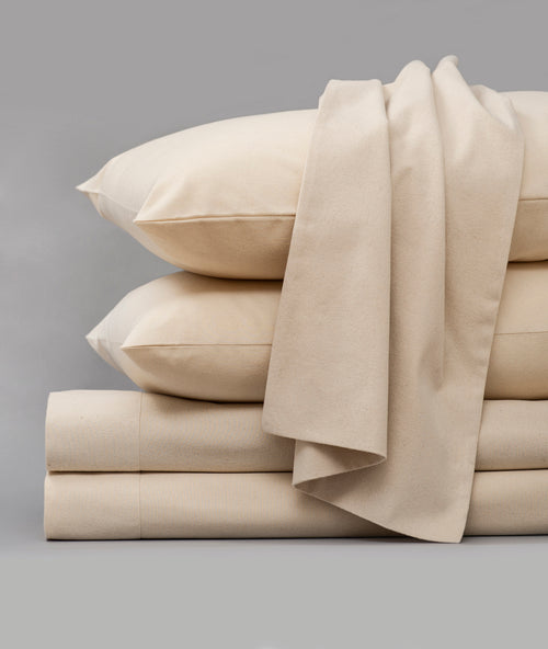 Bhumi Organic Cotton - Flannel Sheet Set - Natural
