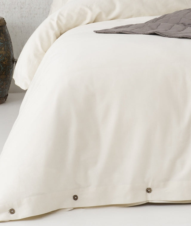 Bhumi Organic Cotton - Sateen Plain Quilt Cover - Natural