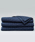 Bhumi Organic Cotton Quilted Blanket - Ogee Design - Navy