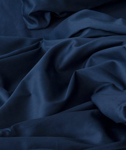 Bhumi Organic Cotton - Flat - Sateen Sheet - Navy