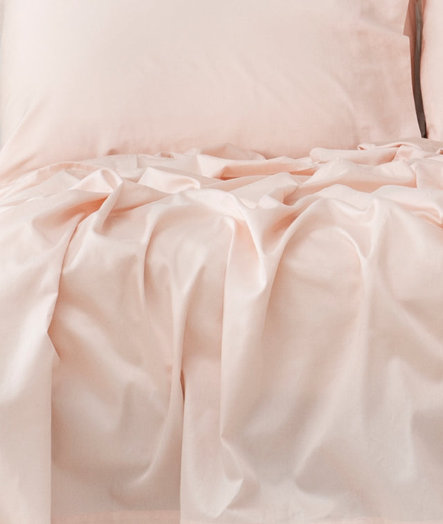 Bhumi Organic Cotton - Fitted - Sateen Sheet - Light Pink