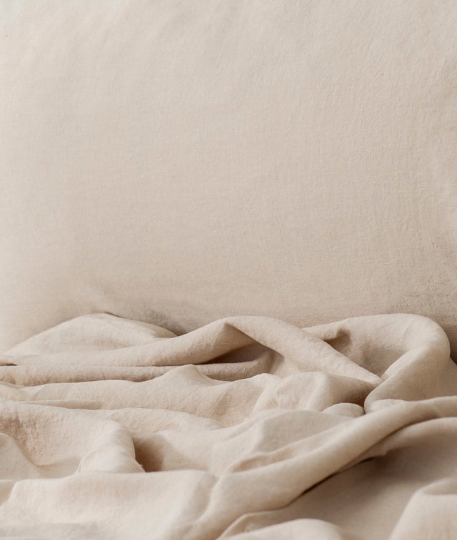 Bhumi Organic Cotton - Linen Sheet Set - Sand