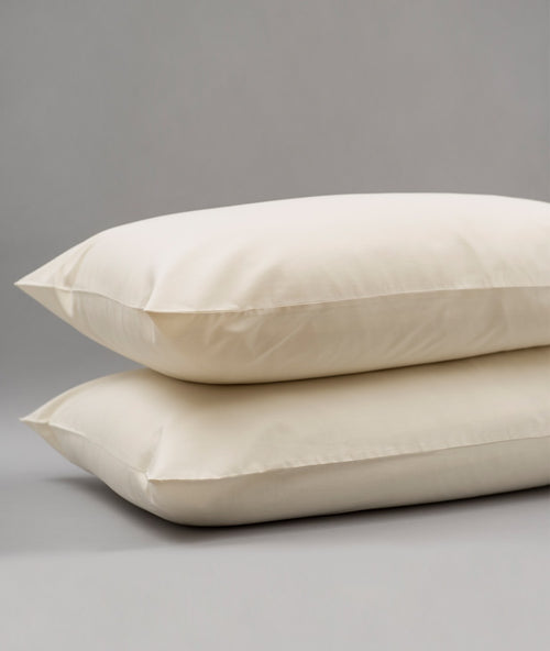 Bhumi Organic Cotton - Sateen Pillow Cases (Pair) - Natural